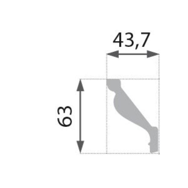B-16 Profillist mønster 43x63mm