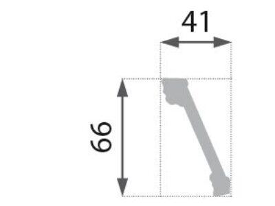 B-18 Profillist mønster 41x66mm