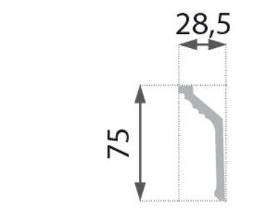 B-19 Profillist mønster 29x75mm.