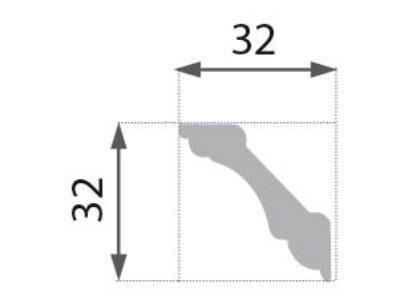 B-01 Profillist mønster 32x32mm.
