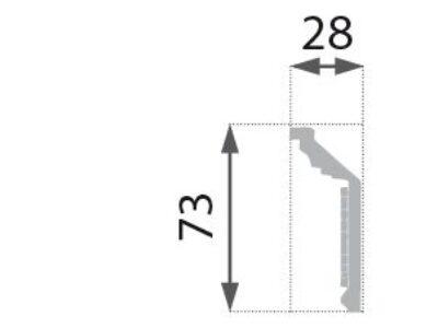 B-21 G Profillist mønster 28x73mm Gyllen