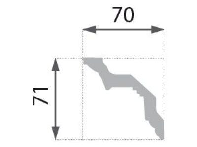 B-23 Profillist mønster 70x71mm.