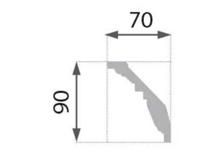 B-24 Profillist mønster 70x90mm.