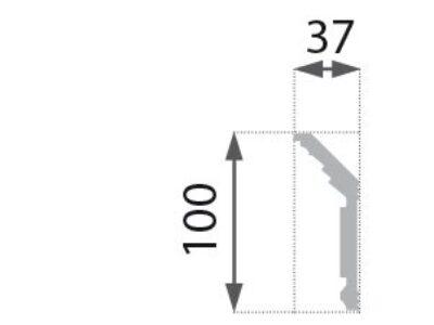 B-25 Profillist mønster 37x100mm.