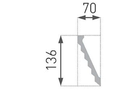 B-37 Profillist mønster 70x136mm