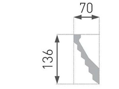 B-38 Profillist mønster 70x136mm
