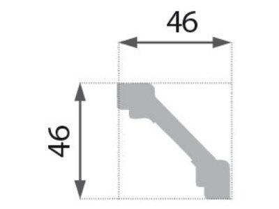 B-03 Profillist mønster 46x46mm.