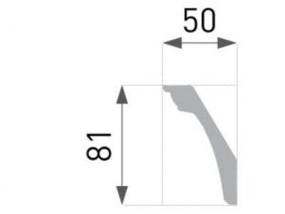 B-46 Profillist mønster 50x81mm.