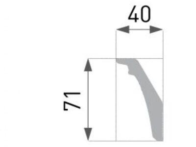 B-47 Profillist mønster 40x71mm