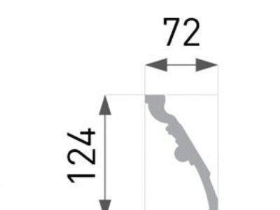 B-48 Profillist mønster 72x124mm.