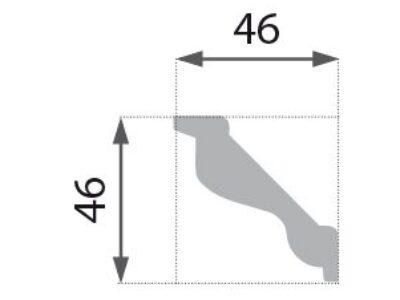 B-04 Profillist mønster 46x46mm.