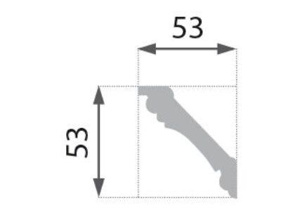 B-06 Profillist mønster 53x53mm.