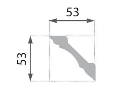 B-07 Profillist mønster 53x53mm.