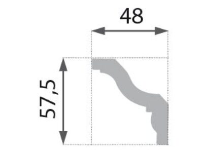 B-08 Profillist mønster 48x58mm.