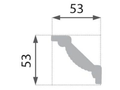 B-09 Profillist mønster 53x53mm