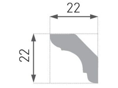 E-23 Taklist 22x22mm