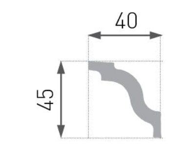 E-05 Taklist 45x40mm.