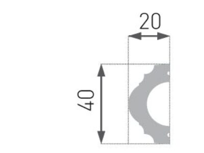 HW-2 Hard list 20x40mm INTERO kollesjon.