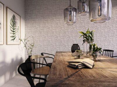 Stein dekor Hvit 485x180x25mm.