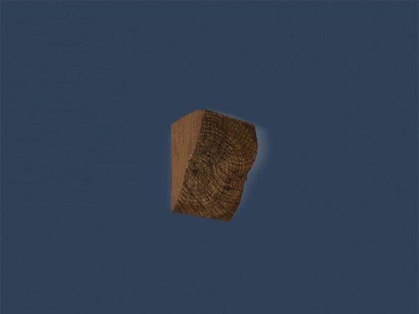 Rustikk KR-01 mørk endestykke