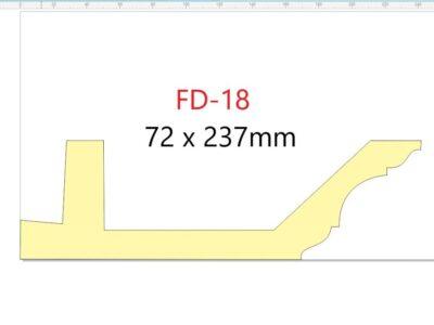 Downlight list-taklist FD-18 /72x237mm/.