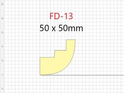 Lyslist, FD-13 /50x50mm/