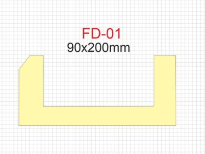 Downlight list FD-01, 90 x 200mm